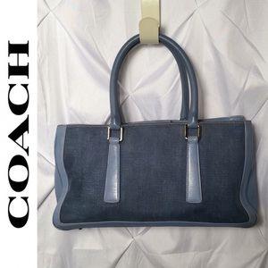 COACH Rare Bonnie Cotton/Linen & Leather Bag